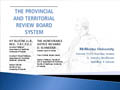 The Provincial and Territorial Review Board System
