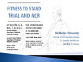 Fitness to Stand Trial and NCR