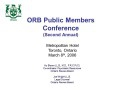 Second Annual Public Members Conference